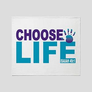 Choose Life Isaiah 49:1 Throw Blanket