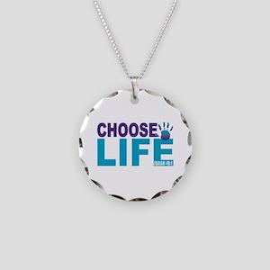 Choose Life Isaiah 49:1 Necklace Circle Charm