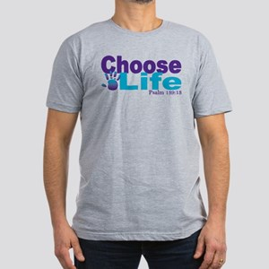 Life Psalm 139:13 Men's Fitted T-Shirt (dark)