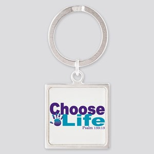 Life Psalm 139:13 Square Keychain