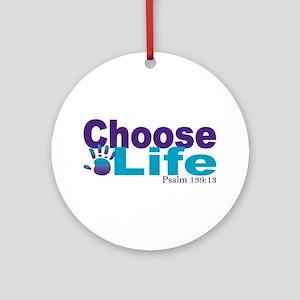Life Psalm 139:13 Round Ornament