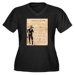 Jesse James Women's Plus Size V-Neck Dark T-Shirt