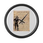 Jesse James Large Wall Clock