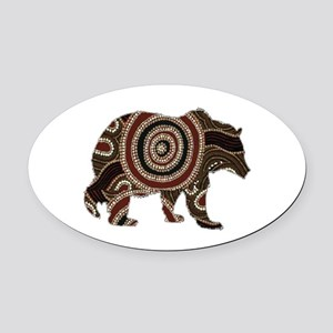 BEAR Oval Car Magnet