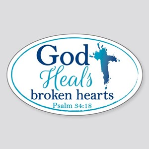 Psalm 34:18 Sticker (Oval)