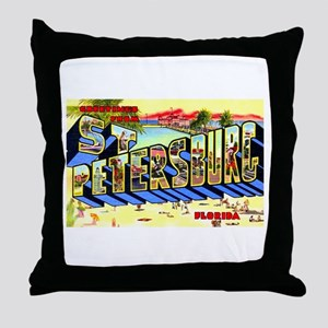 St Petersburg Florida Greetings Throw Pillow