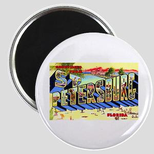 St Petersburg Florida Greetings Magnet