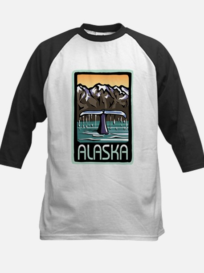 Alaska Whale Kids Baseball Jersey