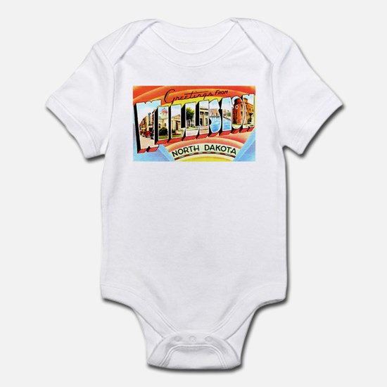 Williston North Dakota Greetings Infant Bodysuit