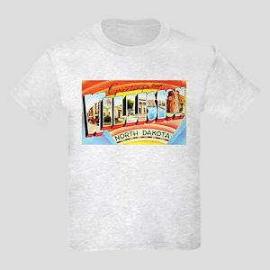 Williston North Dakota Greetings Kids Light T-Shir