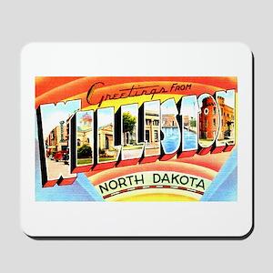 Williston North Dakota Greetings Mousepad