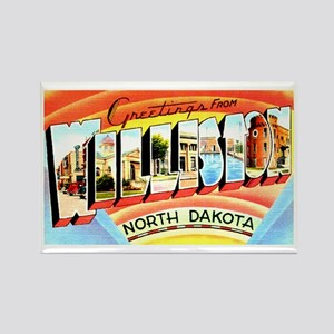 Williston North Dakota Greetings Rectangle Magnet
