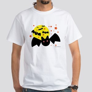 Halloween Bats White T-Shirt