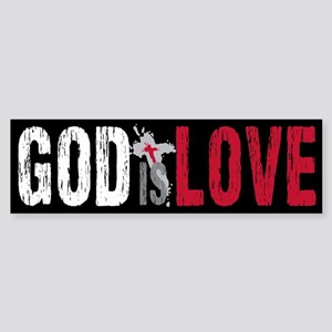 God is Love Sticker (Bumper)