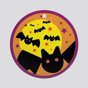 Halloween Bats Ornament (Round)