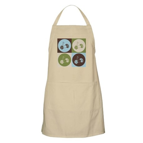 Knitting Pop Art BBQ Apron