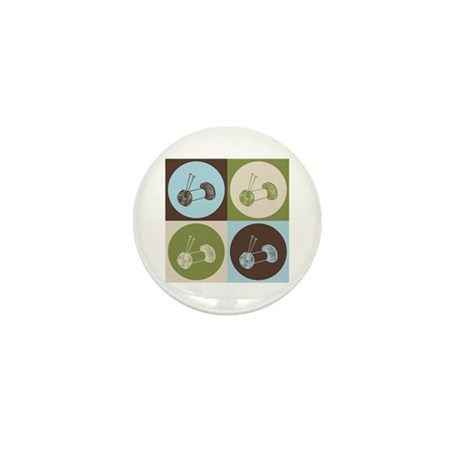 Knitting Pop Art Mini Button (10 pack)