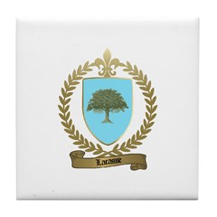 LACASSE Family Crest Tile Coaster