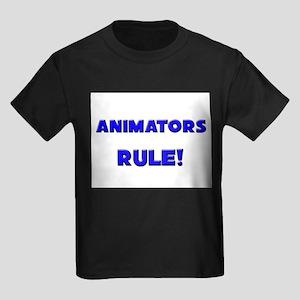 Animators Rule! Kids Dark T-Shirt