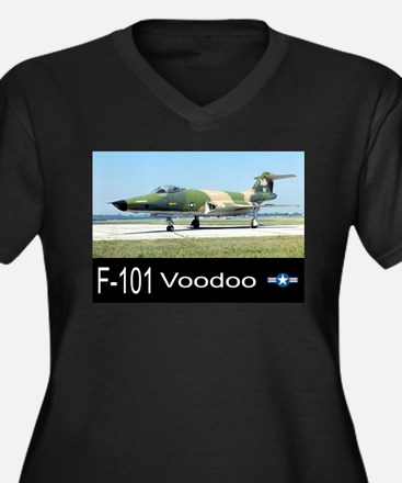 F-101 Voodoo Fighter Women's Plus Size V-Neck Dark