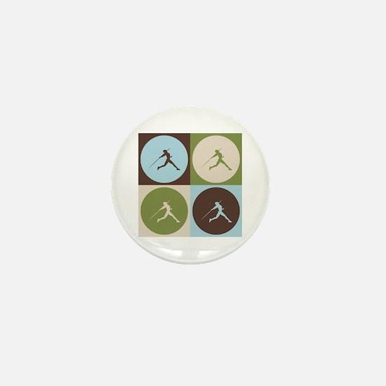 Javelin Pop Art Mini Button