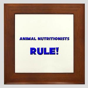 Animal Nutritionists Rule! Framed Tile