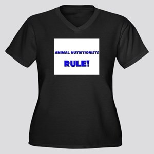 Animal Nutritionists Rule! Women's Plus Size V-Nec