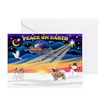 XmasSunrise/Tibet Span #1 Greeting Cards(Pk of 10)
