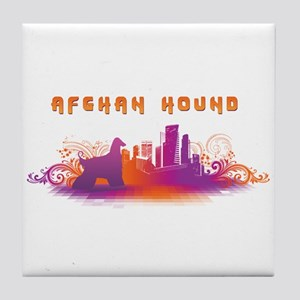 """City"" Afghan Hound Tile Coaster"