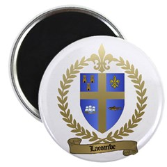 LACOMBE Family Crest Magnet