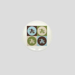 Hurdling Pop Art Mini Button