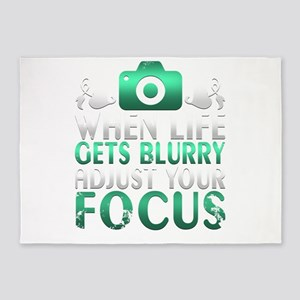 When Life Gets Blurry Adjust Your F 5'x7'Area Rug