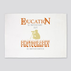 Education is Important But Photogra 5'x7'Area Rug