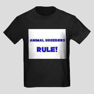 Animal Breeders Rule! Kids Dark T-Shirt