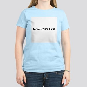 Inconsiderate Women's Pink T-Shirt