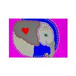 Elephant Rectangle Magnet (100 pack)