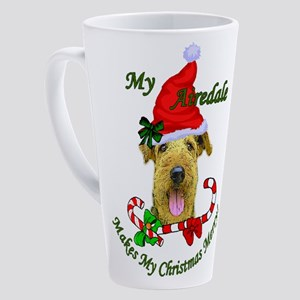 Airedale Terrier Christmas 3 17 Oz Latte Mug