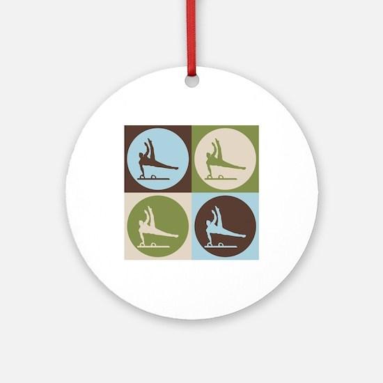 Gymnastics Pop Art Ornament (Round)