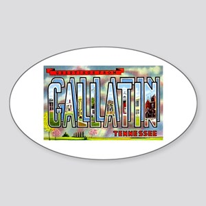 Gallatin Tennessee Greetings Oval Sticker