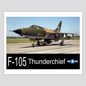 F-105 Thunderchief Fighter Bomber Small Poster