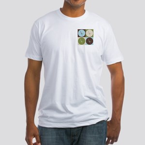 Gliding Pop Art Fitted T-Shirt