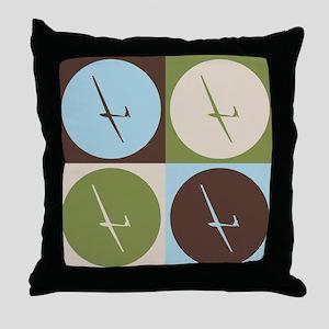 Gliding Pop Art Throw Pillow