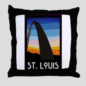 St. Louis Arch Throw Pillow