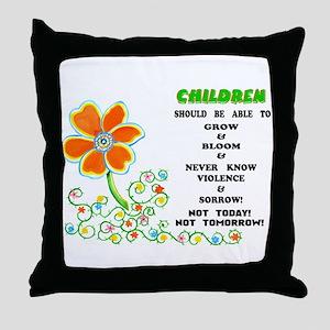 Love The Children! Throw Pillow