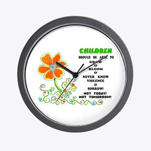 Love The Children! Wall Clock