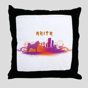 """""""City"""" Akita Throw Pillow"""
