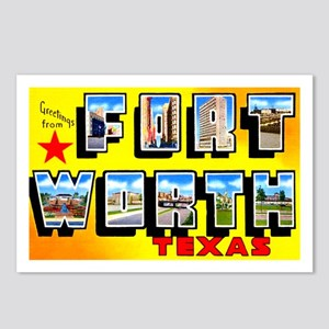 Fort Worth Texas Greetings Postcards (Package of 8