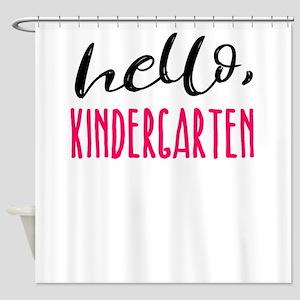Kindergarten Hello Dark Cute Funny Shower Curtain