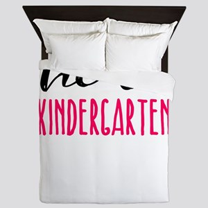 Kindergarten Hello Dark Cute Funny Pr Queen Duvet