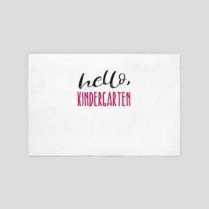 Kindergarten Hello Dark Cute Funny Pr 4' x 6' Rug